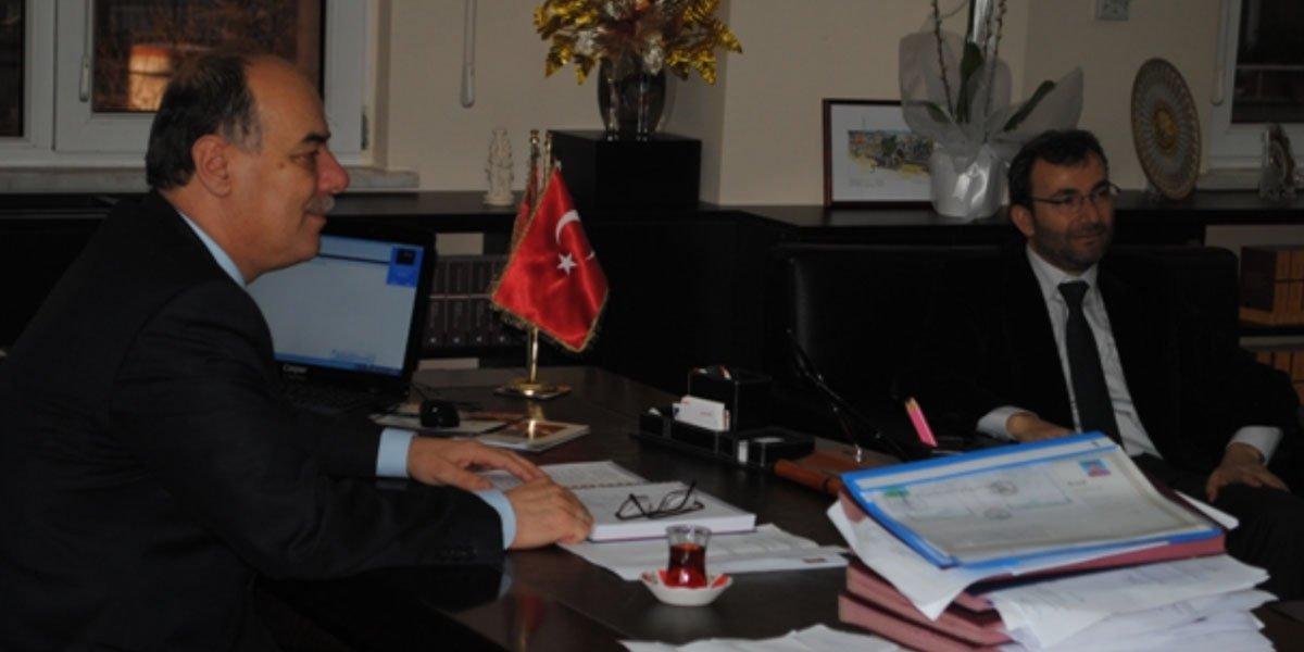 Pendik Milli Eğitim Müdürü Recep Dernekbaş'ı makamında ziyaretimiz-0